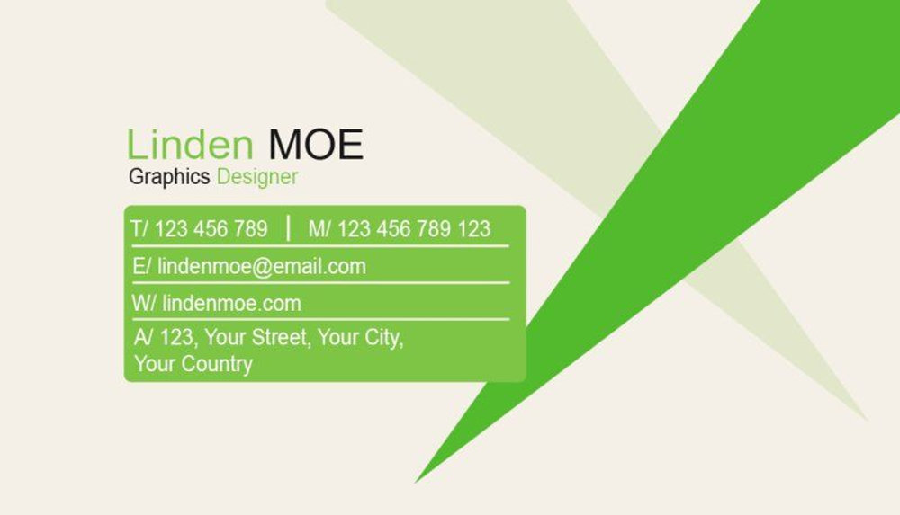 Simple Business Card (Green Version).psd